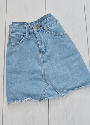 Юпка джинсовая женская с лампасами