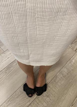 Хлопковая юбка гофре rodier