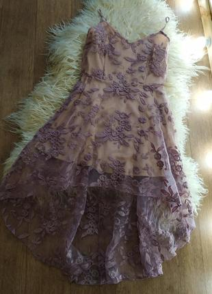 Платье кружевное л l 46-48 р