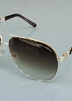 Dolce & gabbana очки капли унисекс солнцезащитные коричневые с градиентом