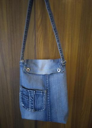 Стильная, джинсовая сумка