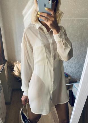 Блуза прозрачная под купальник, блуза под комбинацию , туника