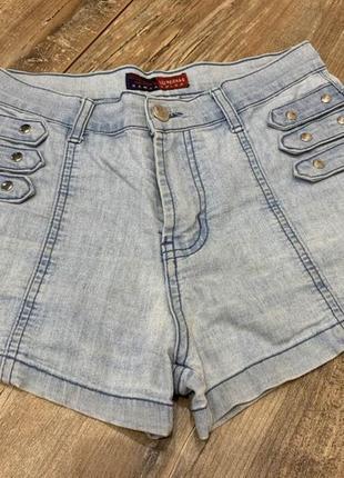 Шорты джинсовые женские летние высокая посадка sale