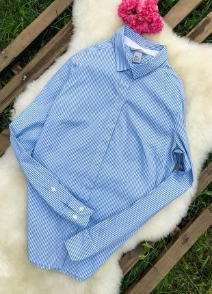 Красивая базовая рубашка в полоску от h&m