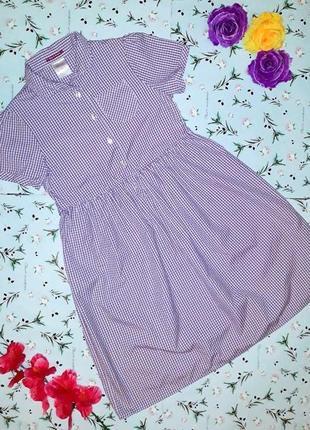 🎁1+1=3 стильное платье миди сарафан в мелкую клетку marie good, размер 42 - 44