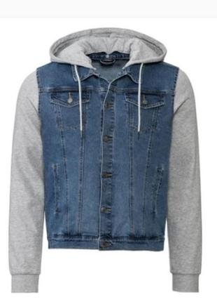 Мужская комбинированная джинсовая куртка