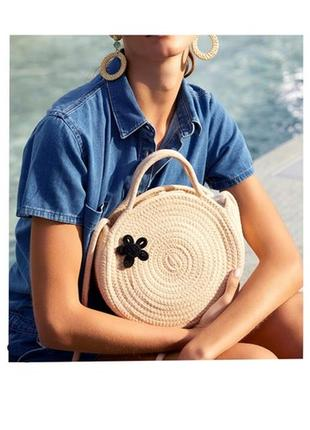 Сумка breeze woven circle bag