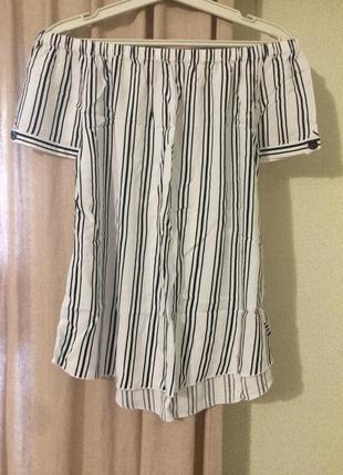 Блуза блузочка открытые плечи лёгенькая вискоза