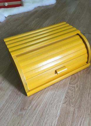 Хлебница желтого цвета, желтая хлебница