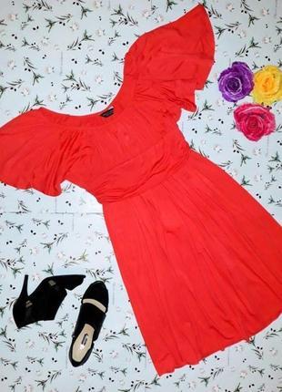 🎁1+1=3 яркое воздушное нарядное оранжевое платье миди dorothy perkins, размер 48 - 50