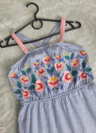 Стильное котоновое платье сарафан