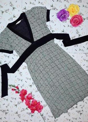 🎁1+1=3 фирменное трикотажное платье миди topshop, размер 46 - 48
