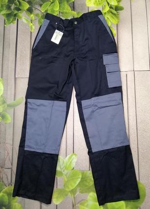 Рабочие штаны с карманами мужские из плотной ткани