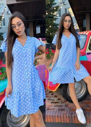 Платье на пуговицах в размерах