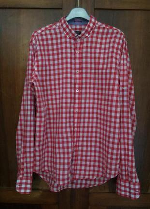 Рубашка в клетку сорочка  paul smith италия
