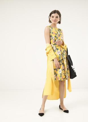 Летнее платье season желтое с цветочным рисунком