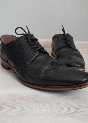 Черные мужские туфли броги оксфорды jasper conran размер 42