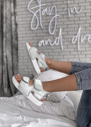Adidas adilette sandal grey 🆕 женские босоножки/сандали адидас🆕 белый/серый