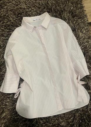 Коттоновая рубашка блузка mango