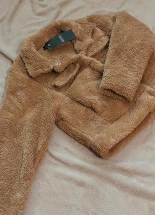 Эксклюзивная укороченная курточка тедди teddy новая!