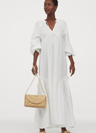 Стильное платье h&m conscious из натурального хлопка коллекция 2020‼️,p.m-l