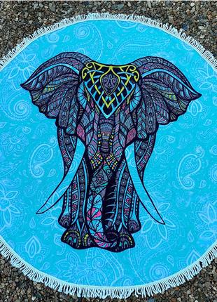 Пляжное полотенце со слоном