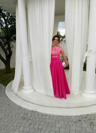 Красивое нарядное выпускное платье. размер с-м