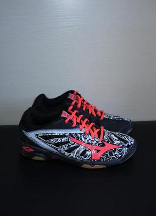 Оригинал mizuno wave mirage jr x1gc160563 кроссовки для гандбола волейбола