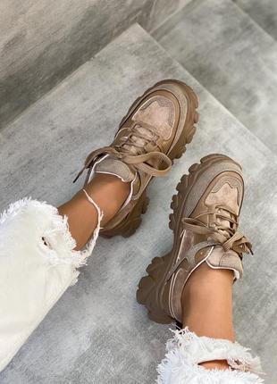 Классные кроссовки из эко замши