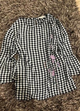 Коттоновая рубашка блузкаf&f