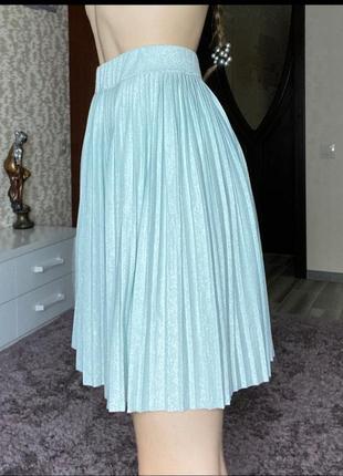Блестящяя юбка плиссе