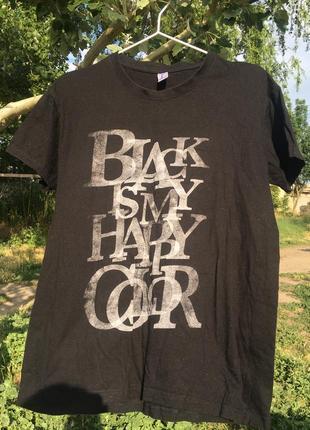 """Чёрная футболка «black is my happy color"""""""
