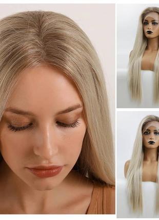 Парик полусистема волос блонд