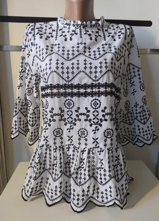 Блуза шитье вышивка ришелье