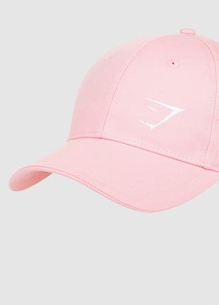 Кепка gymshark essential cap джимшарк (chalk pink)