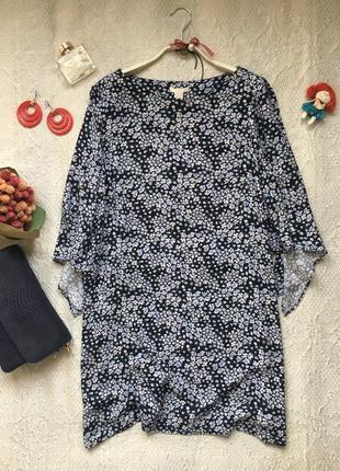 Изящное коротенькое платье свободного силуэта /h&m/размер l (m)