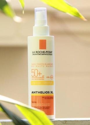 Солнцезащитный спрей для лица и тела spf 50+ la roche-posay anthelios xl ultra-light 200мл