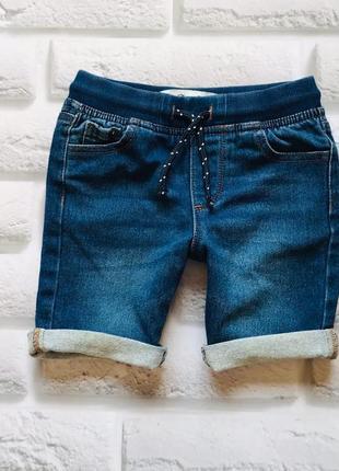 Denim  стильные джинсовые  трикотажные шорты  на мальчика 4-5 лет