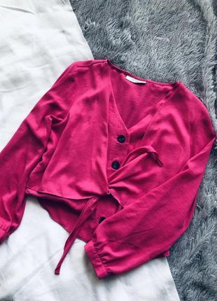 Блуза топ цвета фуксия свободная