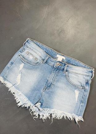 Шорты мом  джинсовые высокая посадка