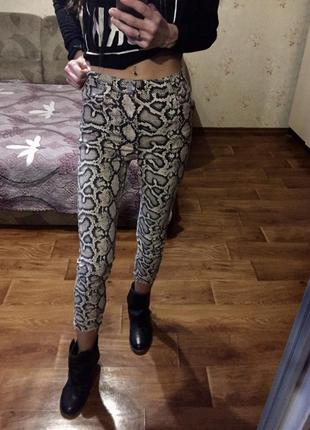 Джинсы леопард 🐆 zara