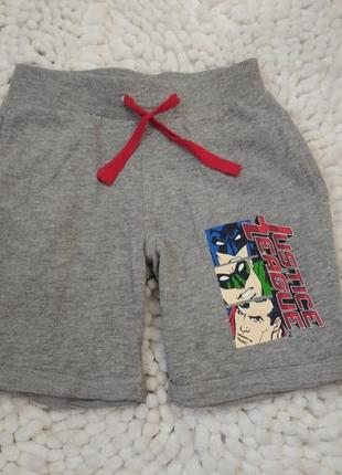Хлопковие шорти, marvel 7-8лет