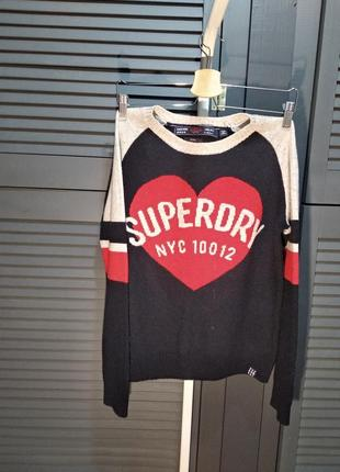 Шерстяной свитер superdry
