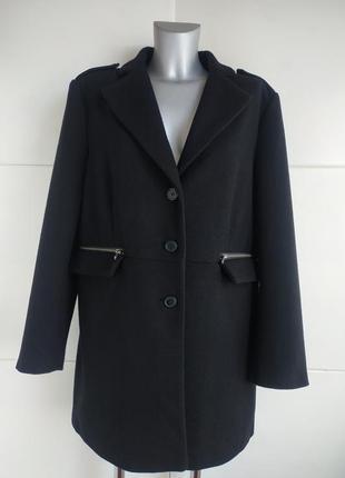 Стильное шерстяное пальто bruno banani с молниями на карманах