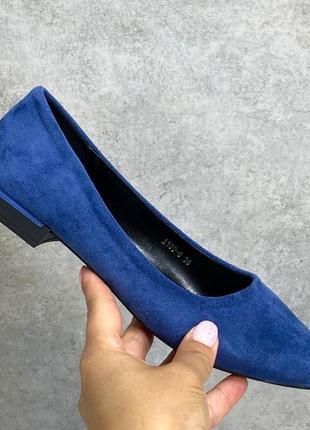 Сині туфлі лодочки