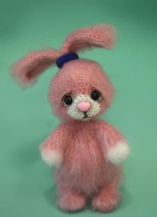 Брелок для сумки розовый зайчик