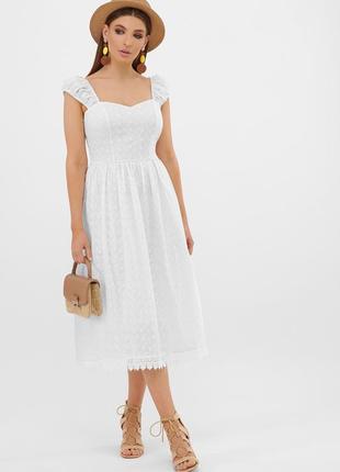 Летний женский сарафан, платье миди
