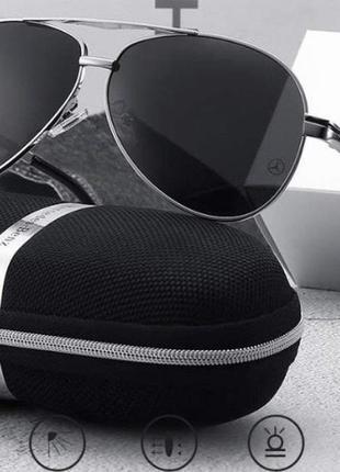 Мужские брендовые очки мерседес с поляризацией