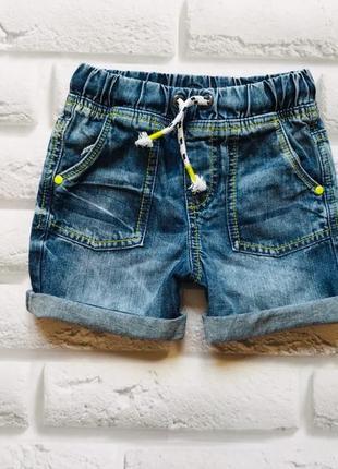 F&f стильные джинсовые шорты  на мальчика 4-5 лет