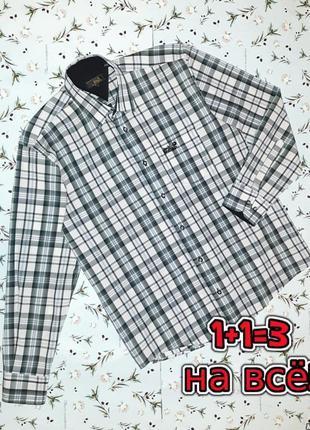 🎁1+1=3 крутая фирменная рубашка в клетку с длинным рукавом jack wolfskin, размер 48 - 50